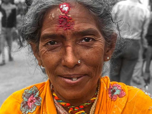 Lady at Festival