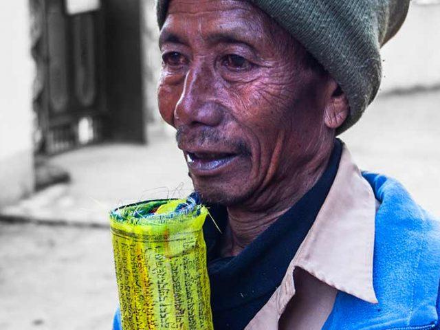 Prayer Flag Salesman